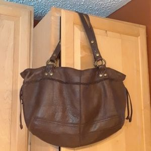 Lucky Brand Distressed Brown Leather Shoulder Bag
